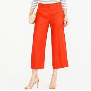J. Crew Petite Gazebo Pants Wide Leg Crop Flare